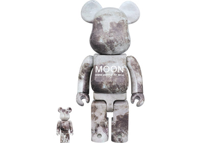 Bearbrick Moon 100% & 400% Grey