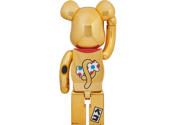 Be@rbrick Peko-Chan Beckoning Cat 1000% Gold