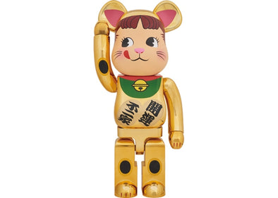 Bearbrick Peko-Chan Beckoning Cat 1000% Gold