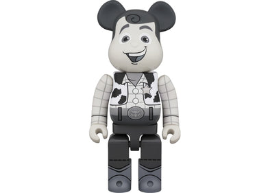 Be@rbrick Woody B&W Ver. 400% Black