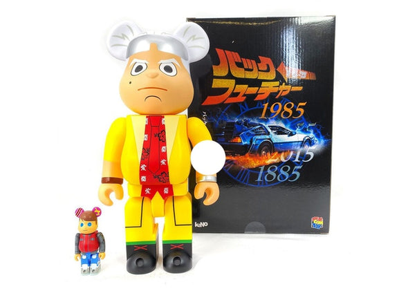 Be@rbrick kaNo x Medicom Back to The Future Designer Con Doc and Marty 100% & 400% Set