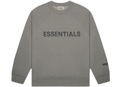 FEAR OF GOD ESSENTIALS 3D Silicon Applique Crewneck Charcoal