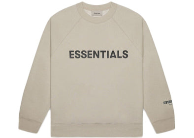 FEAR OF GOD ESSENTIALS 3D Silicon Applique Crewneck String/Tan