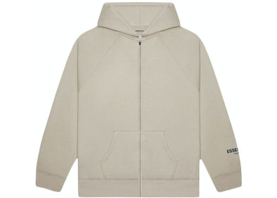 FEAR OF GOD ESSENTIALS 3D Silicon Applique Zip up Hoodie Tan
