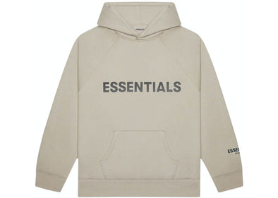 FEAR OF GOD ESSENTIALS 3D Silicon Applique Hoodie Tan
