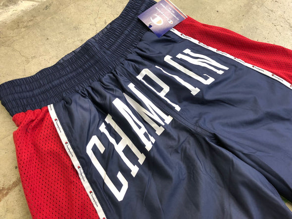 """NO OTHER GODS""  Champion Satin Short (Indigo/Red)"