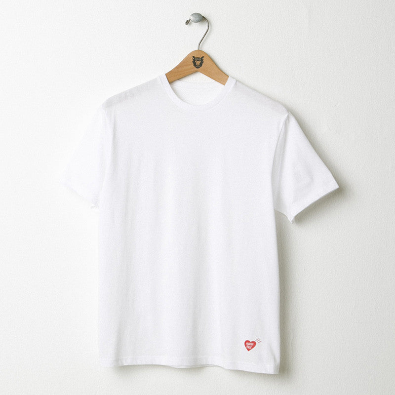 HUMAN MADE White Plain Logo Tee (Heart)
