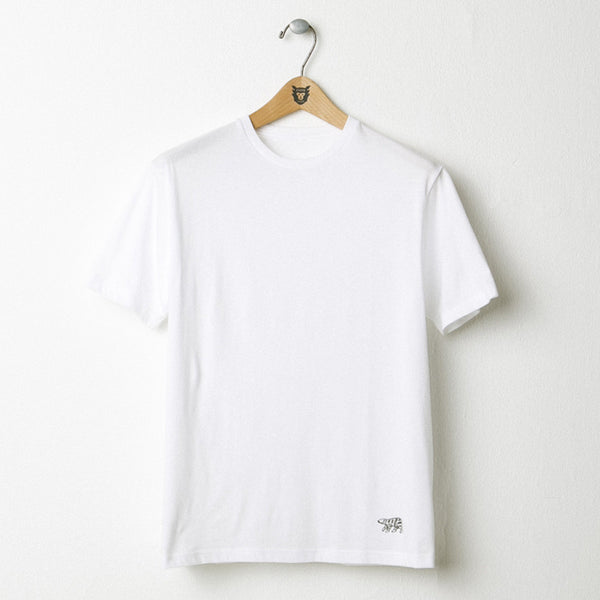 HUMAN MADE White Plain Logo Tee (Polar Bear)