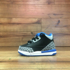 NIKE AIR BABY JORDAN 3 (Cement Black/Blue ps) 832033 007