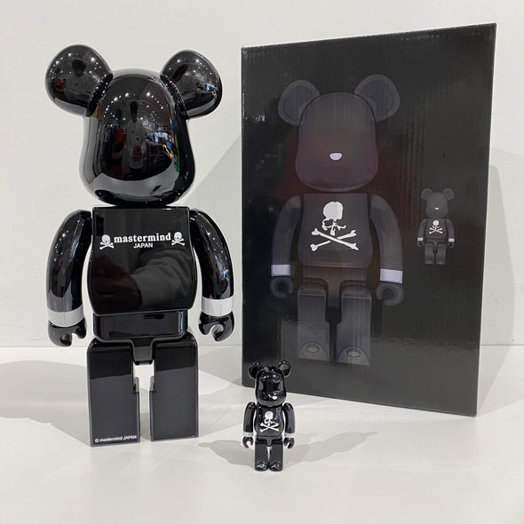 Be@rbrick x mastermind Japan Black Chrome Ver. 100% & 400% Set