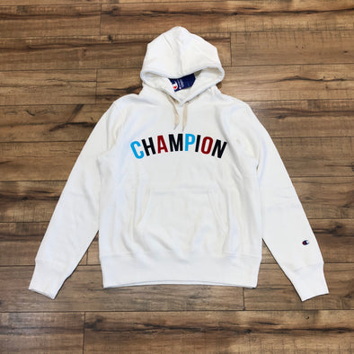 Champion Multi Arc Logo Hoodie (White)