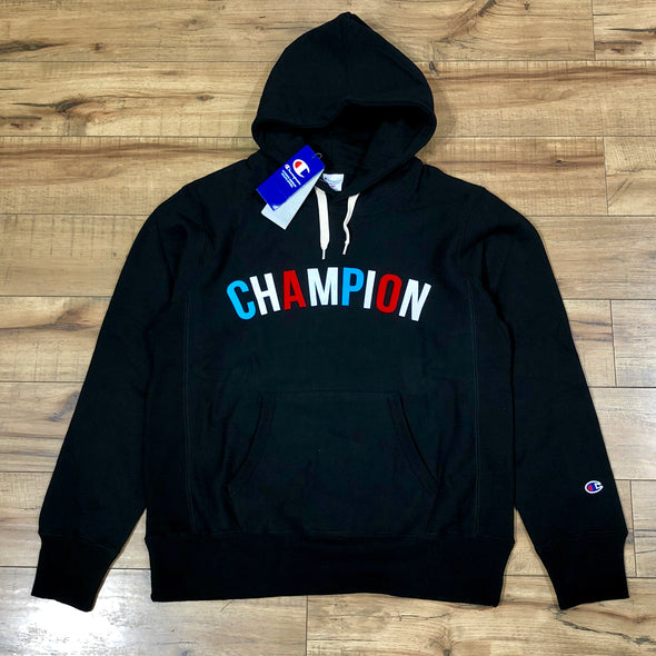 Champion Multi Arc Logo Hoodie (Black)