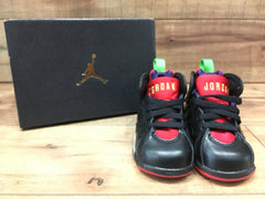 NIKE AIR BABY JORDAN 7 RETRO BT BLACK UNIVERSITY RED (304772 028)