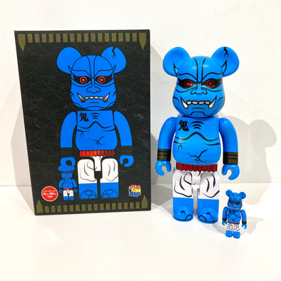 Be@rbrick Set Play Studio Blue Oni Shinobu Akaoni 400% + 100%