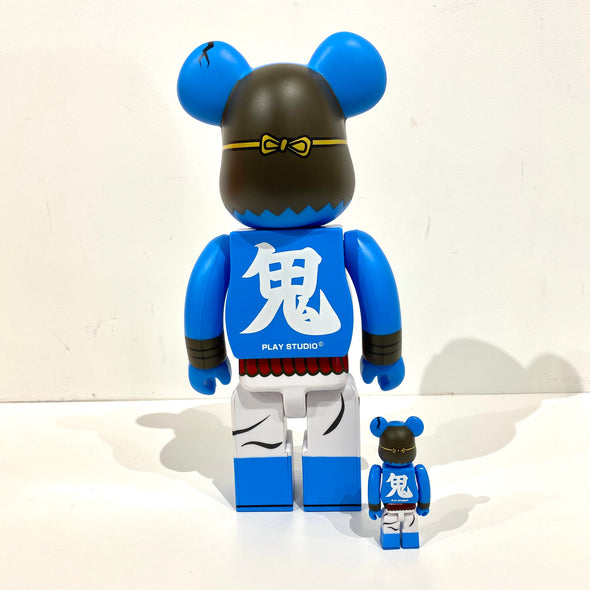 Be@rbrick Set Play Studio Blue Oni Shinobu Akaoni devil 400% + 100%