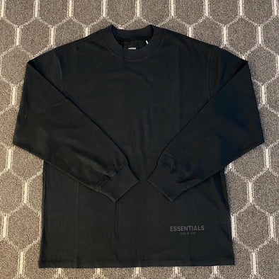 FEAR OF GOD ESSENTIALS 3M Logo Long Sleeve Tee (Black)