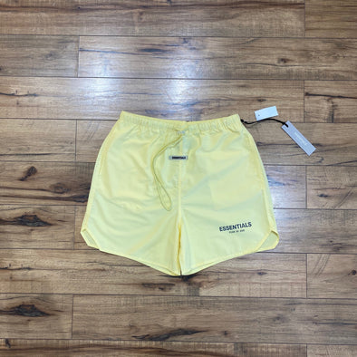 FEAR OF GOD ESSENTIALS 3M Logo Shorts (Light Yellow)