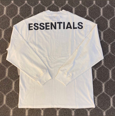 FEAR OF GOD ESSENTIALS 3M Logo Long Sleeve Tee (White)