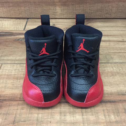 Nike Air Jordan 12 Bred Toddler shoes (850000 002)