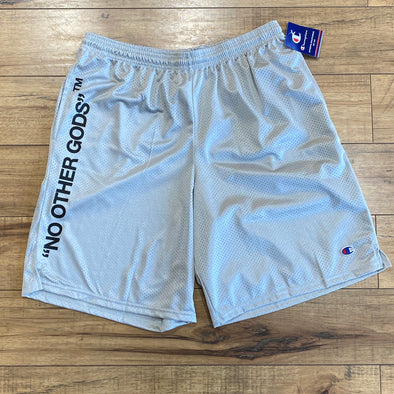 """NO OTHER GODS"" - Champion Mesh Short (Grey)"