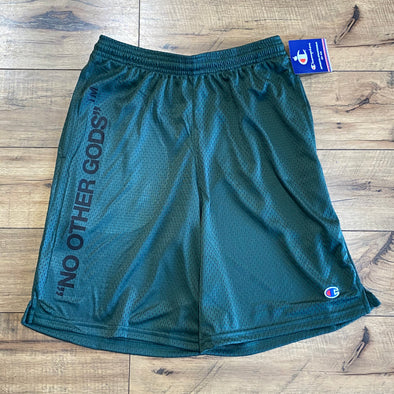 """NO OTHER GODS"" - Champion Mesh Short (Green)"