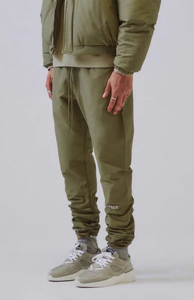 FEAR OF GOD ESSENTIALS Nylon Track Pants (Olive)