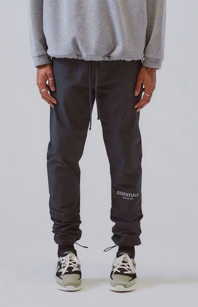 FEAR OF GOD ESSENTIALS Nylon Track Pants (Black)