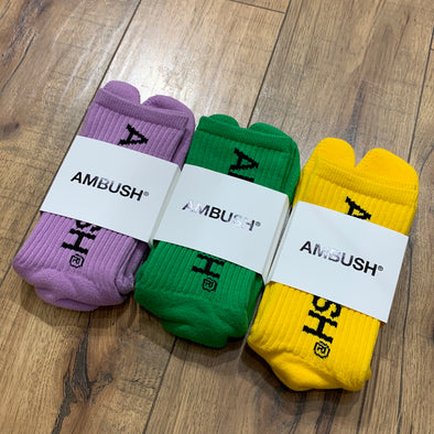 Ambush Socks Ninja Style (Purple, Green, Yellow)