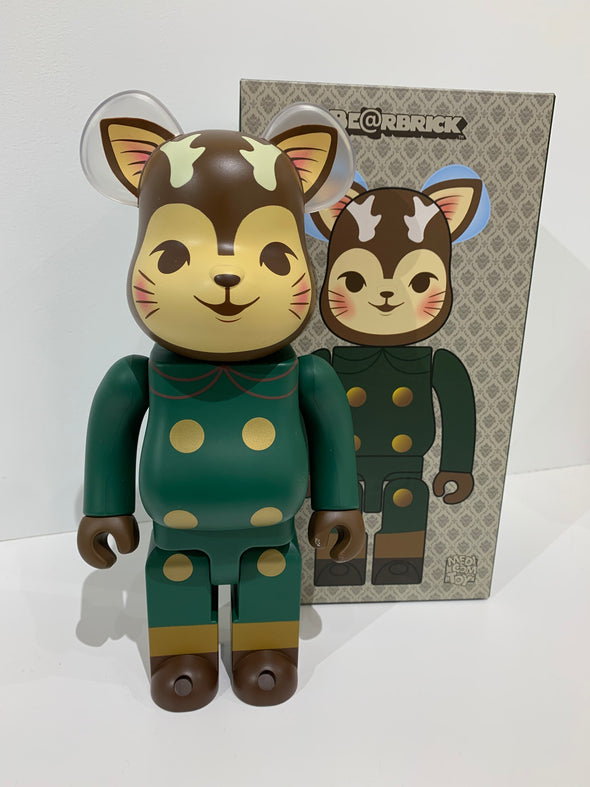 Morris The Cat With Antlers 400% Bearbrick