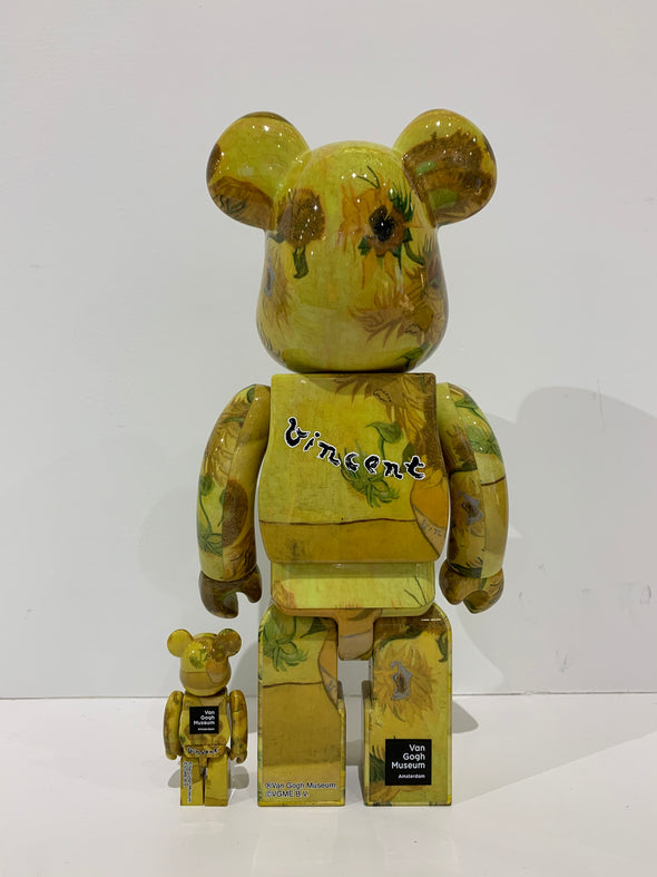 "Van Gogh ""Sunflowers"" 400% + 100% set Be@rbrick"