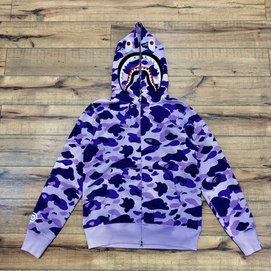 Bape Color Camo Shark Hoodie (Purple)