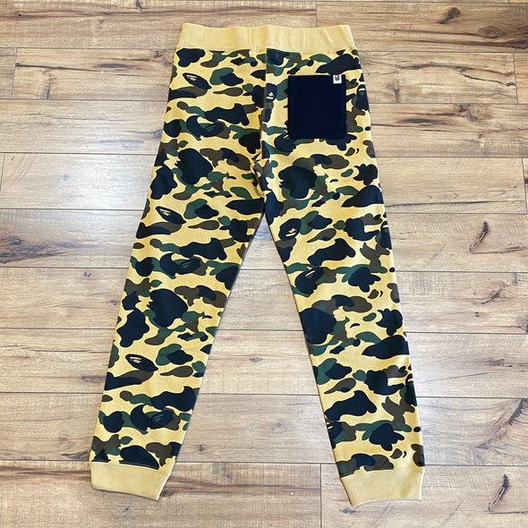 Bape 1st Camo Shark Slim Sweatpants (Yellow)