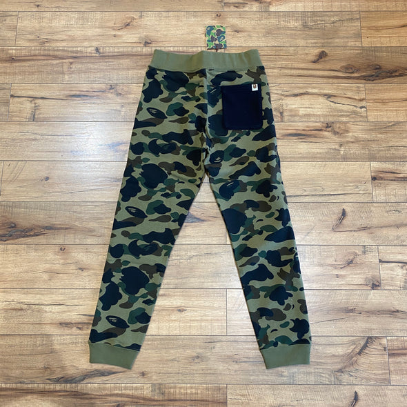 Bape 1st Camo Shark Slim Sweatpants (Green)
