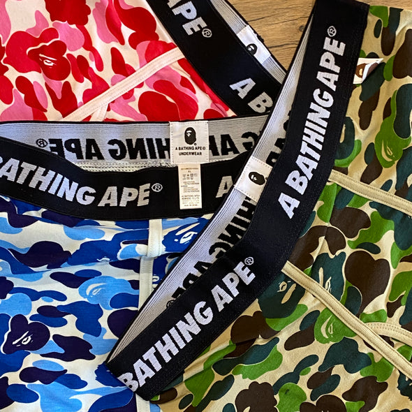 BAPE ABC Camo Boxer Trunk Set ( Boxers / Underwear )