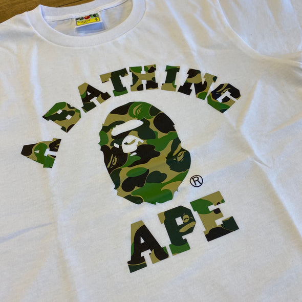 Bape ABC Camo College Tee (White)