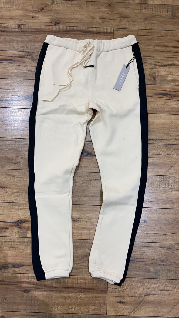 FEAR OF GOD ESSENTIALS 3M Logo Sweatpant pants (Cream/black stripe)