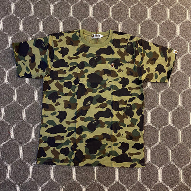 Bape Ape Head One Point Tee (Green Camo)