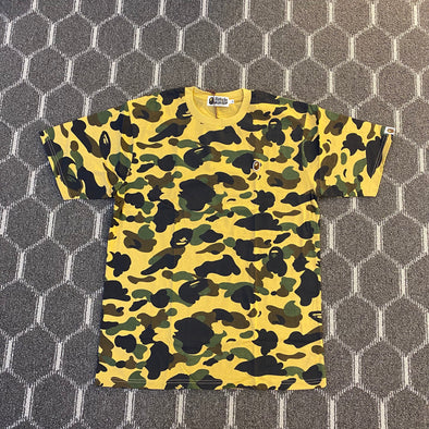 Bape Ape Head One Point Tee (Yellow Camo)