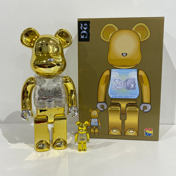 Be@rbrick 2G Reverse 100% & 400% Set (Gold)