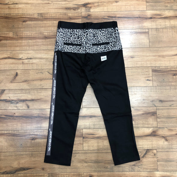 """NO OTHER GODS"" Snow Leopard Chino Pants (Black)"