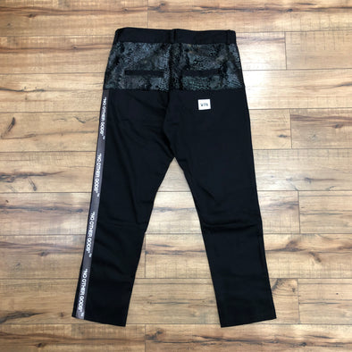 """NO OTHER GODS"" Snake Skin Chino Pants (Black)"