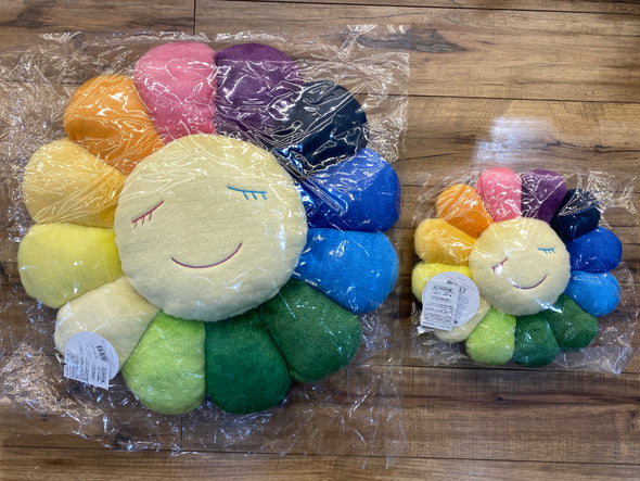 "Takashi Murakami Rainbow ""White Face"" Flower Cushion (2 Size)*"
