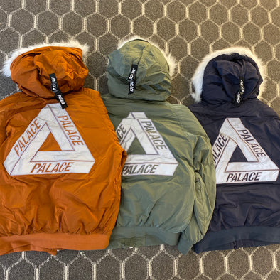 Palace P-2B Short Parka (Navy/Rust/Olive)