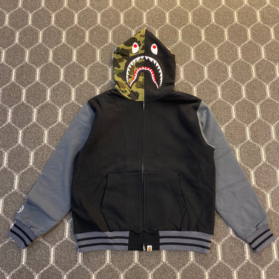 BAPE Shark Sweat Varsity Hoodie Jacket