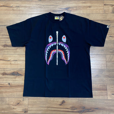 Bape Color Camo Shark Tee (Purple)