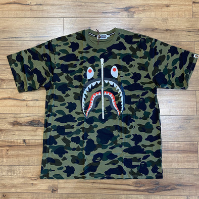 Bape 1st Camo Full Shark Tee (Green)