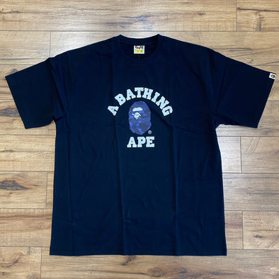 Bape Color Camo College Tee (Blue)