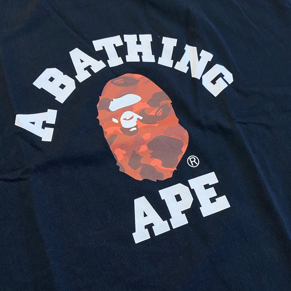 Bape Color Camo College Tee (Red)