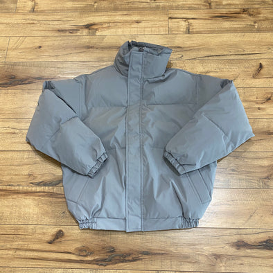 FEAR OF GOD ESSENTIALS Grey Puffer Jacket