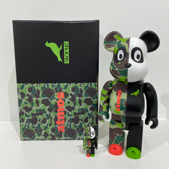 Be@rbrick atmos x STAPLE #3 100% & 400% Set